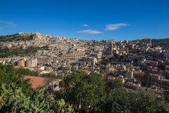 Scenic view of Modica and San Giorgio cathedral. Sicily, Italy Stock Image