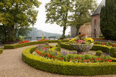 A  scenic view in Mont Sainte-Odile abbey in France Royalty Free Stock Images