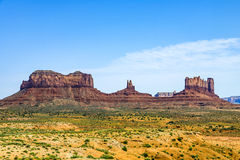 Scenic view of monument valley Royalty Free Stock Photos