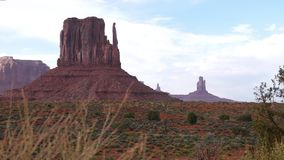 Scenic view in the Monument Valley, USA. Floating focus. Scenic view in the Monument Valley, Arizona, Utah, USA. Floating focus. Navajo Tribal Park stock footage