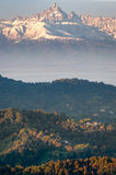 Scenic view of the Monviso at sunrise Royalty Free Stock Image