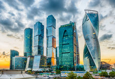Scenic view of the Moscow City International Business Center, Ru Stock Images