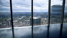 Scenic view on Moscow from height.  stock video footage