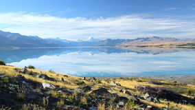 Scenic view at Mount Cook stock footage