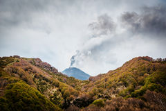 Scenic view of Mount Etna erupting Royalty Free Stock Photography