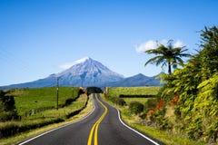 Scenic view of mount Taranaki in Egmont National park in New Zealand royalty free stock photo