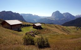 Scenic view of mountain alp in south tyrol Stock Photo