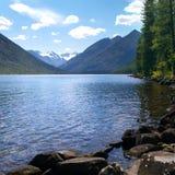 Scenic view of mountain lake royalty free stock photos