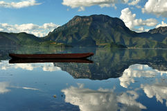 Scenic view of mountain lake Stock Images