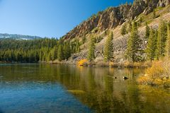 Scenic view of a Mountain and Lake Stock Images