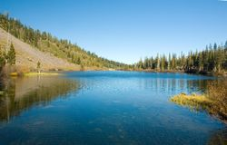 Scenic view of a Mountain and Lake Royalty Free Stock Image
