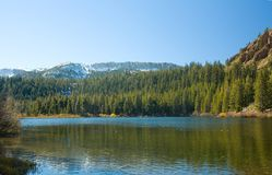 Scenic view of a Mountain and Lake Stock Photography