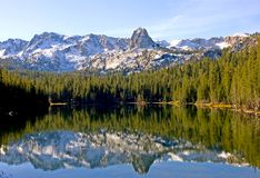 Scenic view of a Mountain and Lake with Reflection Royalty Free Stock Image