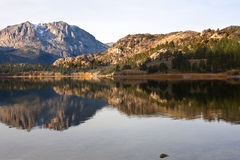 Scenic view of a Mountain and Lake with Reflection Stock Image