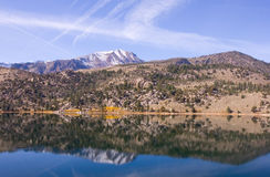 Scenic view of a Mountain and Lake with Reflection Stock Photography