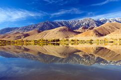Scenic view of a Mountain and Lake with Reflection Royalty Free Stock Photos