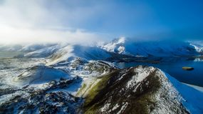 Scenic View of Mountain Range Against Sky royalty free stock photography