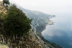 Scenic View of Mountain Side Near Sea royalty free stock photos