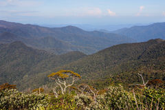 A scenic view of the mountain in Sumatra - Indonesian landscape Stock Photos
