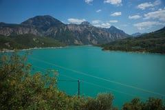 Scenic view from the mountain to Kremaston lake, Evritania, Gree Stock Photography