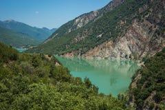 Scenic view from the mountain to Kremaston lake, Evritania, Gree Royalty Free Stock Photos