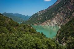 Scenic view from the mountain to Kremaston lake, Evritania, Gree Stock Photos