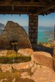 Scenic view from the mountain to Kremaston lake, Evritania, Greece Stock Image