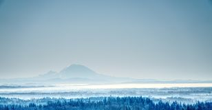 Scenic View of the Mountain during Winter stock photo
