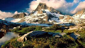 Scenic View of Mountains Stock Photos