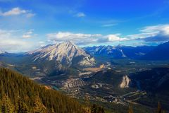 Scenic View of Mountains Against Sky stock photo