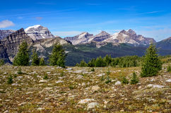 Scenic view of mountains in Banff national park, Alberta, Canada. Scenic view of mountains in Banff national park near Egypt lake, Alberta, Canada Stock Image