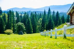 Scenic view of the mountains Carpathians, Ukraine stock photo