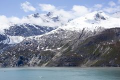 Glacier Bay Cloudy Mountains Stock Photos