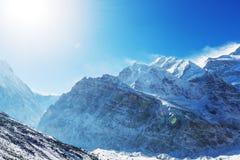 Kanchenjunga region. Scenic view of mountains, Kanchenjunga Region, Himalayas, Nepal Royalty Free Stock Photos