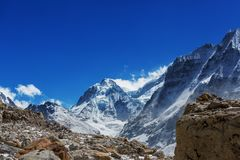 Kanchenjunga region. Scenic view of mountains, Kanchenjunga Region, Himalayas, Nepal Stock Image