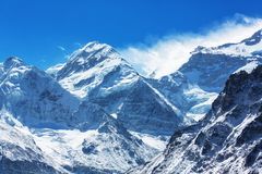 Kanchenjunga region. Scenic view of mountains, Kanchenjunga Region, Himalayas, Nepal stock photos