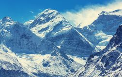 Kanchenjunga region. Scenic view of mountains, Kanchenjunga Region, Himalayas, Nepal royalty free stock image