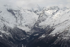 Scenic view of the mountains, ski resort Dombay Royalty Free Stock Images