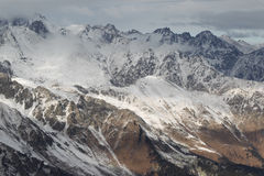 Scenic view of the mountains, ski resort Dombay Stock Photos