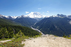 Scenic view of Mt Rainer. Washington, Seattle Stock Photography