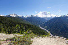 Scenic view of Mt Rainer. Washington, Seattle Royalty Free Stock Photography