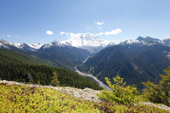 Scenic view of Mt Rainer. Washington, Seattle Royalty Free Stock Photos