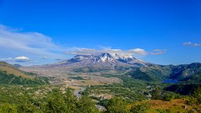Scenic view on Mt St Helens from Castle Lake viewpoint royalty free stock photography