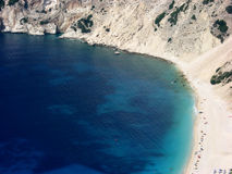 Scenic view of Myrtos beach Royalty Free Stock Photo