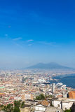 Scenic view of Naples city and Mount Vesuvius, Italy Stock Photography