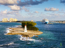 Scenic view of Nassau, Bahamas. Royalty Free Stock Image
