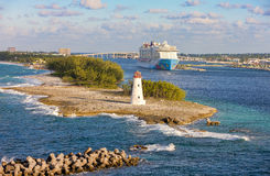 Scenic view of Nassau, Bahamas. Royalty Free Stock Images