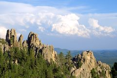 Scenic View from Needles Highway Stock Images