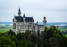 Scenic view of Neuschwanstein Castle in Bavaria Stock Image