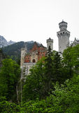 Scenic view of Neuschwanstein Castle in Bavaria Stock Images